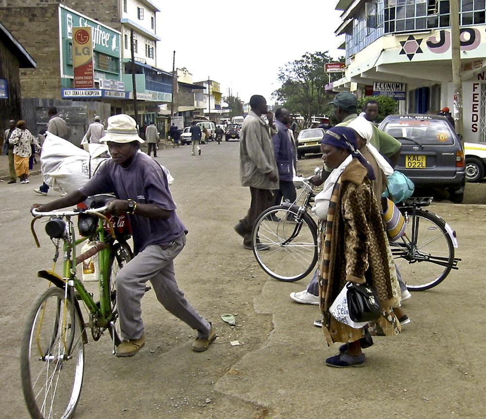 Africa Kenya Nanyuki Bicycle Street