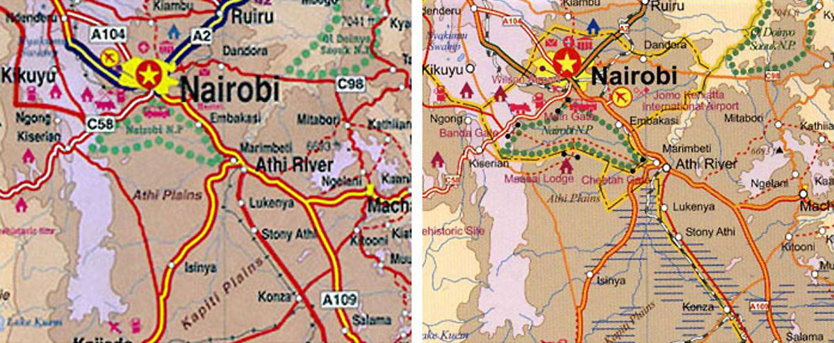 Africa Kenya Nairobi Map ITMB