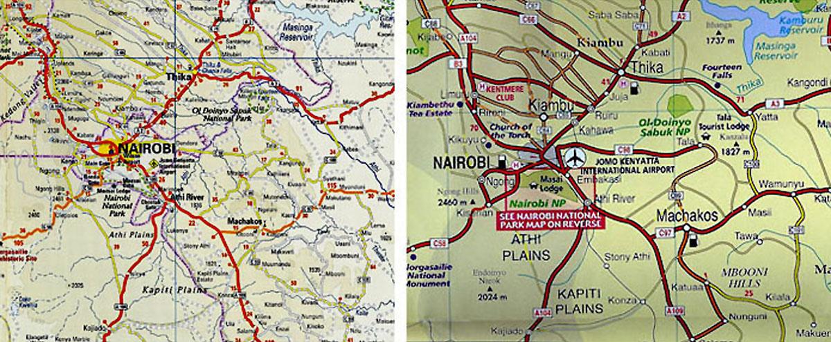 Africa Kenya Nairobi Maps